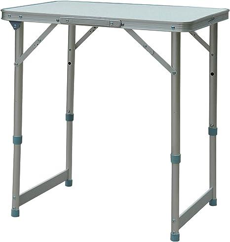 Outsunny Mesa Plegable de Picnic como una Maleta para Playa Camping 60x45x64cm Aluminio Altura Ajustable