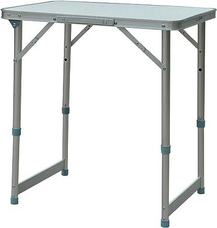 Outsunny Mesa Plegable de Picnic como una Maleta para Playa Camping 60x45x65cm Aluminio Altura Ajustable: Amazon.es: Jardín