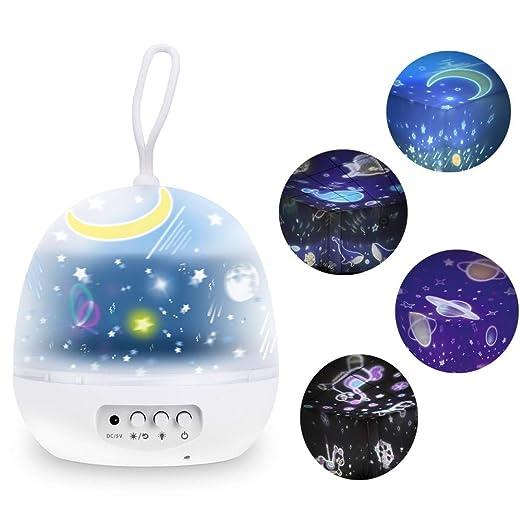 Lámpara Proyector Nabowei, Lámpara Proyector Estrellas, 8 Modos ...