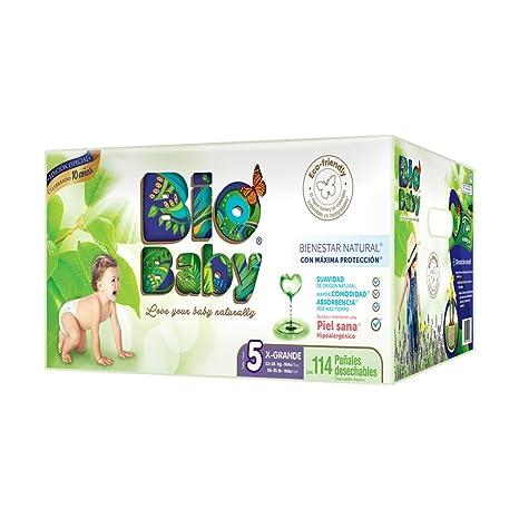 Bio Baby, Unisex, Talla Extra Grande, 114 Pañales (La imagen del ...