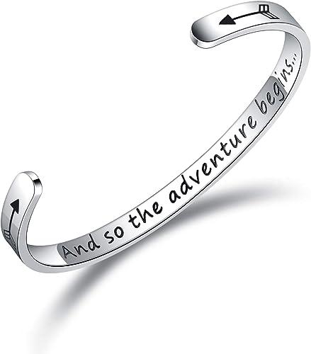 Silver Bracelet Mens Jewelry Mantra Quote Bracelet Secret Message Cuff Inspiration Bracelet Inspirational Jewelry Graduation Gift
