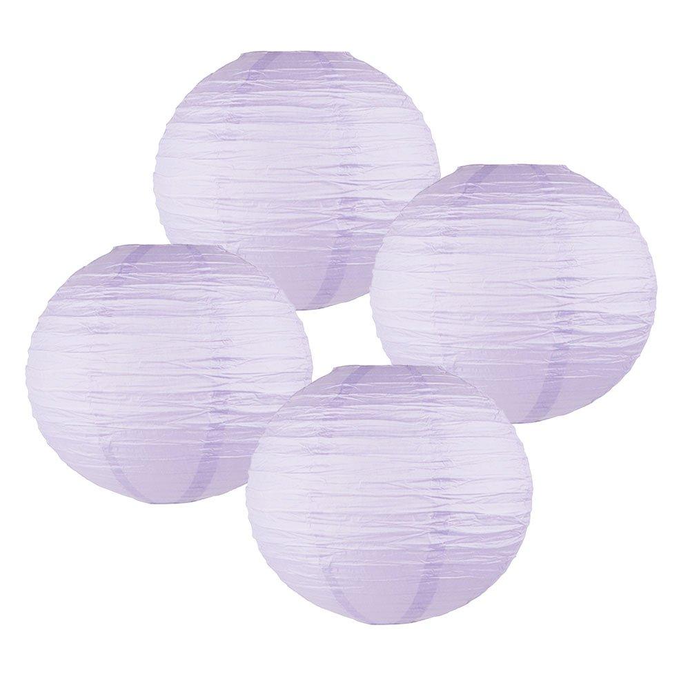Just Artifacts 様々な紙製ランタン(色とサイズの異なる紙のランタン) 24inch AMZ-RPL4-240025 B01EGXLJ4C 24inch|Lavender Purple Lavender Purple 24inch