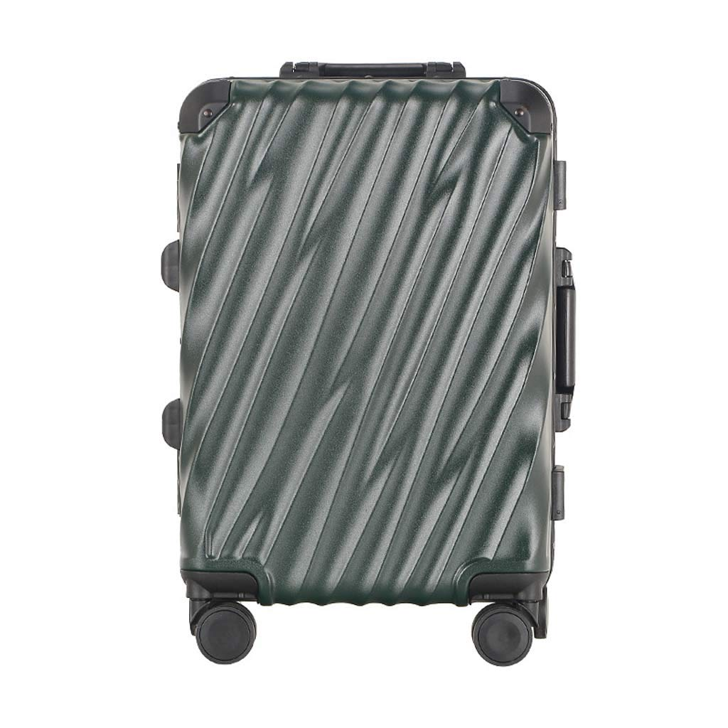 Color : Dark Green, Size : 20 inches CLOUD Luggage Sets Travel Suitcase Male and Female Lightweight ABS Portable Consignment Suitcase Trolley Case Lock 4 Wheels