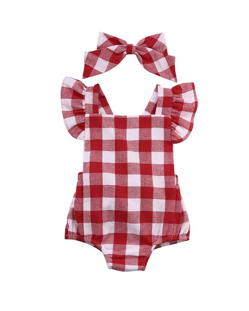 Rawdah Set di vestiti della tuta del pagliaccetto della tuta del neonato di Bowknot del cotone neonato Rawdah-019