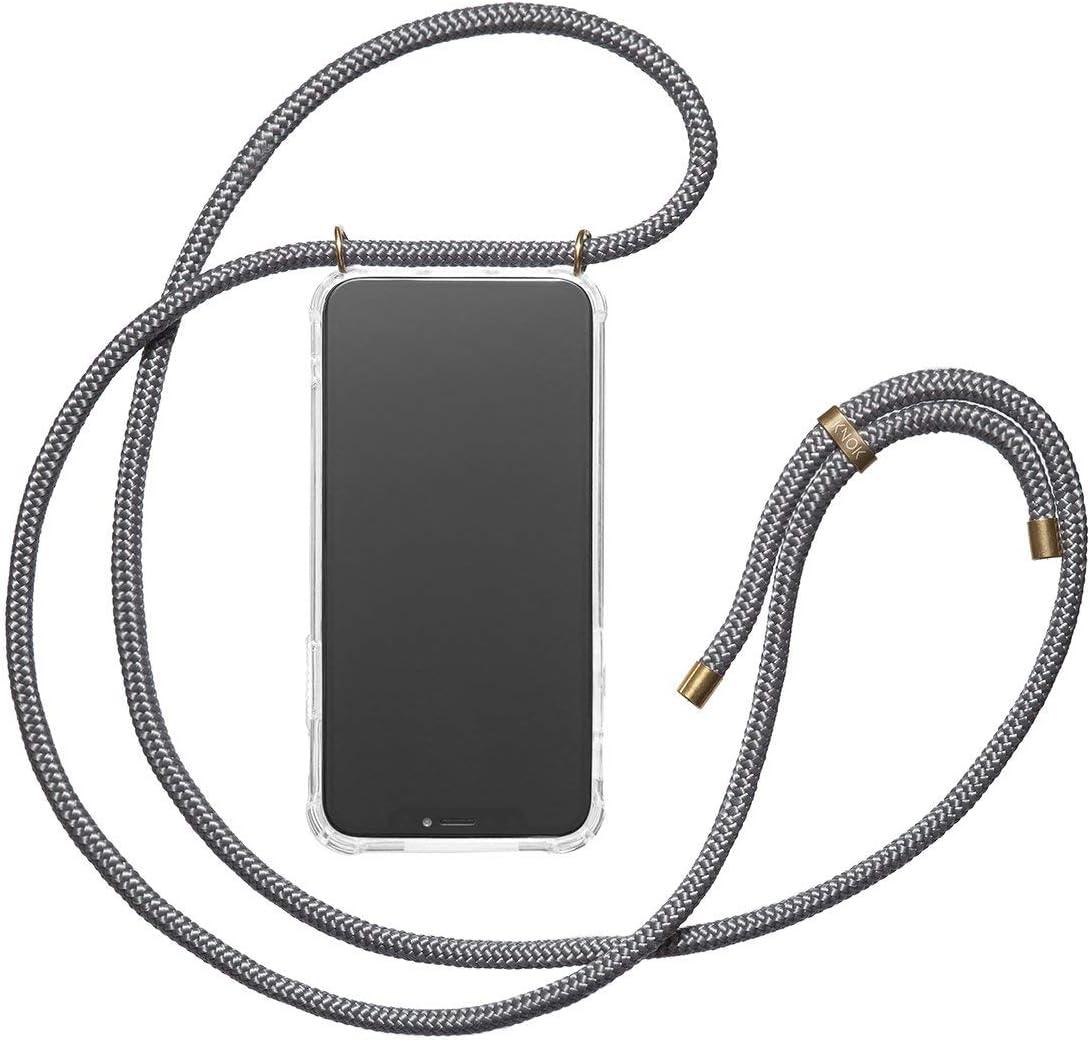 coque de protection en silicone avec cordon pour t/él/éphone portable Samsung S10Plus Knok Cha/îne /à t/él/éphone Transparent
