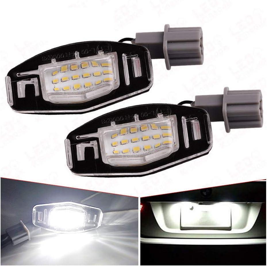 LUOAN AUTO PARTS 2Pcs 18 LED Luces de matr/ícula L/ámpara de n/úmero para H//Onda//Accord//Odyssey//Acura//TSX//Civic 01-05 Bombilla led para Coche