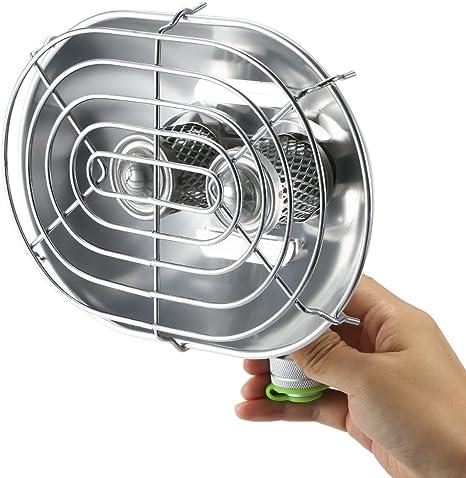 Lixada Doble Cabeza Calentador Portable Ray Infrarrojos Camping Calentador de Gas Calefacción Estufa