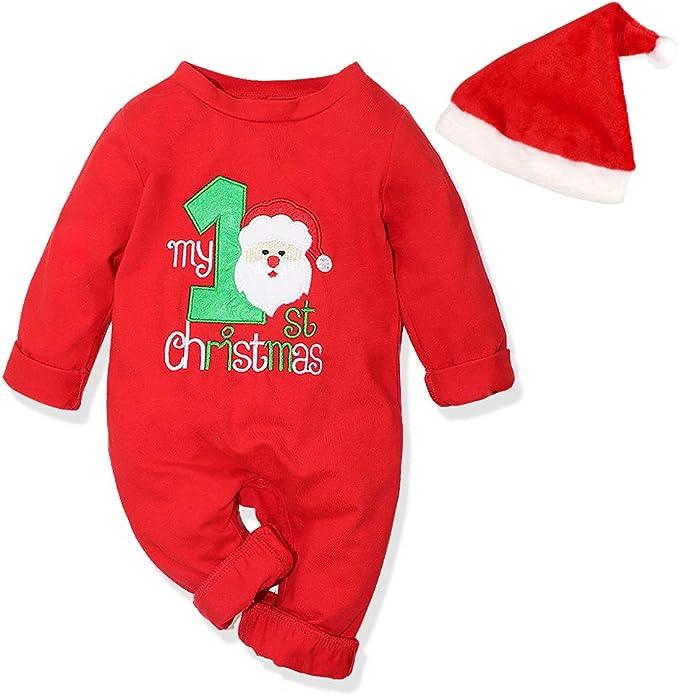 Amazon.com: Juego de 2 peleles navideños para bebés y niñas ...