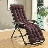 Lavish Street Exclusive Soft Rocking Chair Cushions Home Cotton Cushion Long Chair Pad (48 x 16 inches,Brown)
