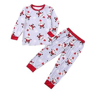 c5d866ca9a Matching Family Christmas Pajamas FEDULK Santa Claus Print Sleepwear  Holiday Kids Pjs Sets(Red