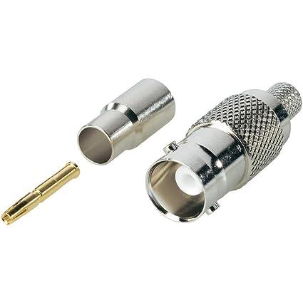 BKL Electronic BNC-Crimpkupplung 50 Ohm para Belden H15