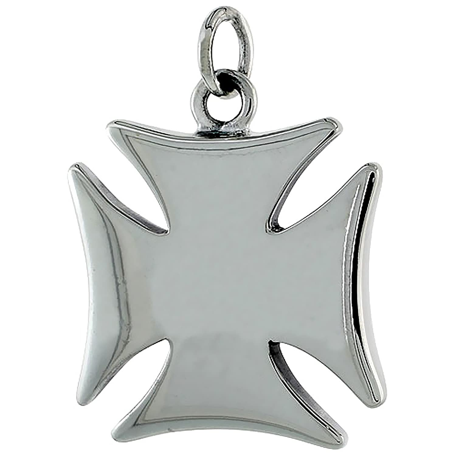 Deluxe Adult Costumes - Sterling Silver Maltese Cross Pendant