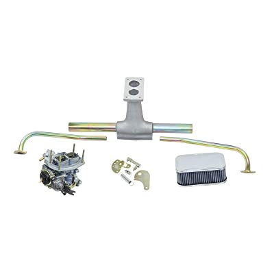 EMPI 43-0622 VW BUG & TYPE 2, Deluxe Progressive WEBER Carb Kit w/Air Cleaner: Automotive