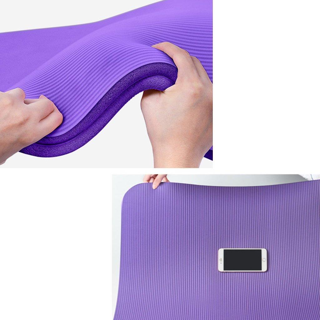 MMDP Doble Yoga Mat Alargar 200cm Ampliar 130cm Espesar 10mm Tasteless Antideslizante Estera De La Aptitud De La Estera De La Danza De Los Ni/ños