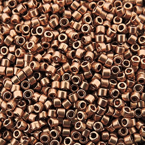 (Bright Copper Plated (Db40) Delica Myiuki 11/0 Seed Bead 7.2 Gram Tube Approx 1400 Beads)
