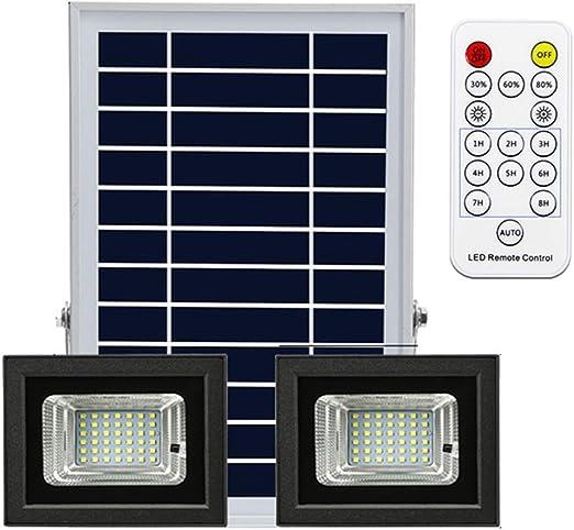 WKZ Solar Led Proyector,Floodlight X2 Sensor De Luz Exterior ...