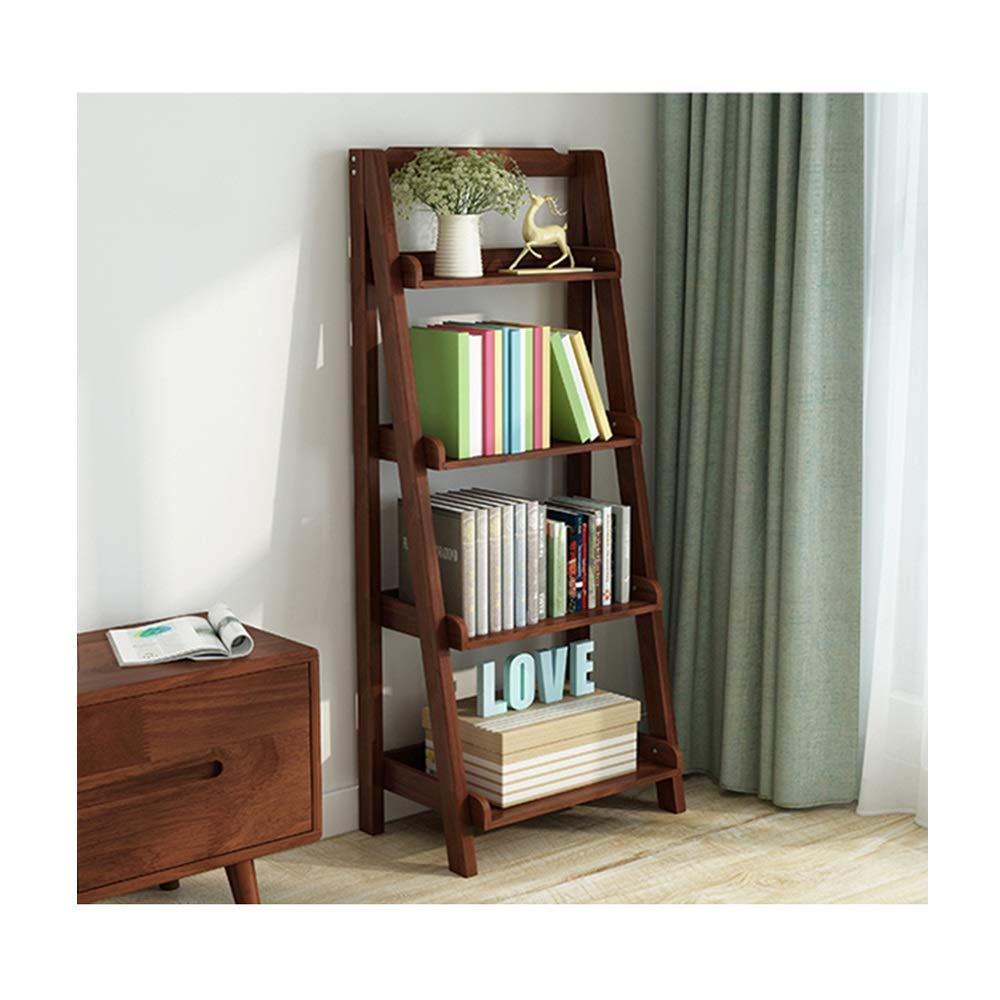 Willesego Bücherregal einfache und Moderne nordische Holzecke, trapezförmige Blüten (Farbe  BRAUN) (Farbe   Braun, Größe   -) Braun