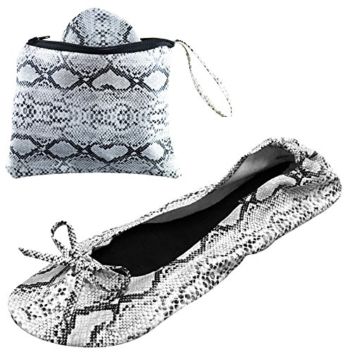 Light Plegables Originales 3 Lentejuelas Con Snake Party Pumps Transporte Bolsa After Zapatillas De Animales Gamas Skin Bn4ZxtHq