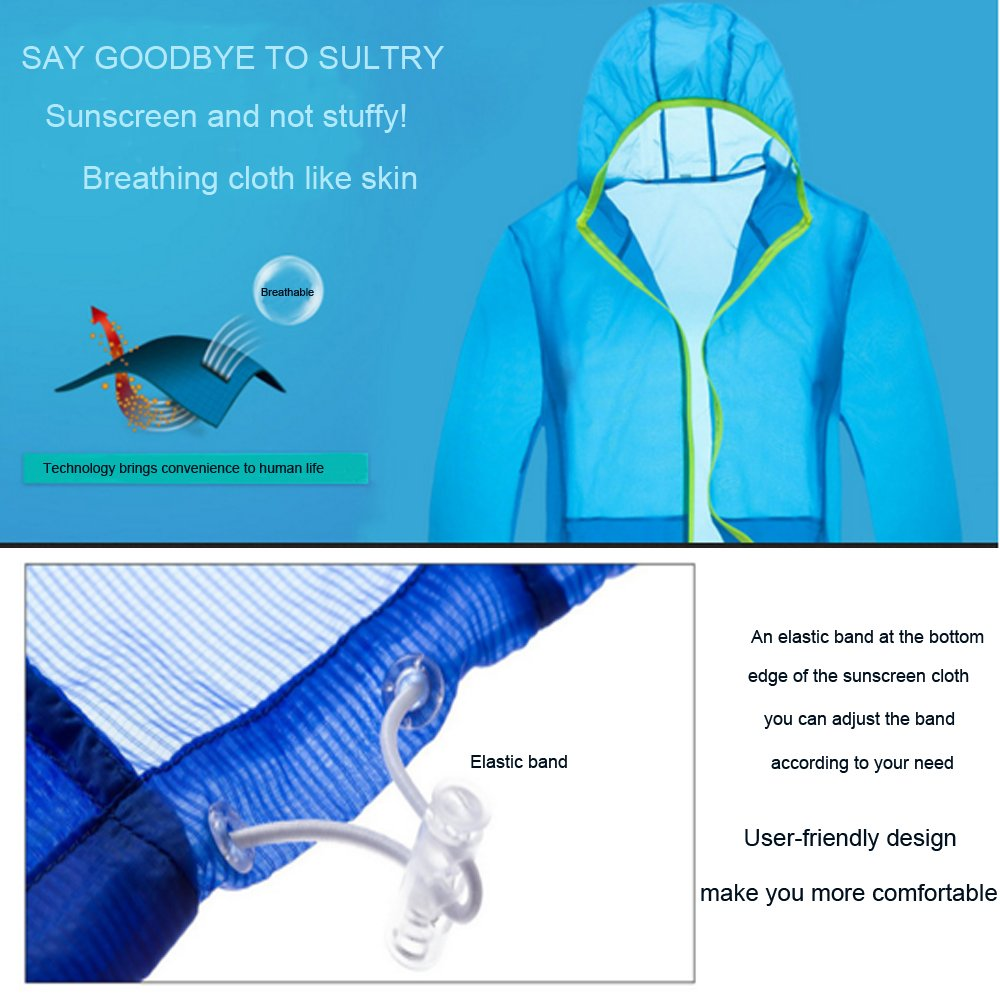 UYIKEA Sunscreen Clothes Women Sunscreen Clothing for Women Sun Protection Clothing with Long Sleeve Outdoor UPF30 Breathable Quick Drying Waterproof Storage Bag Green, XL