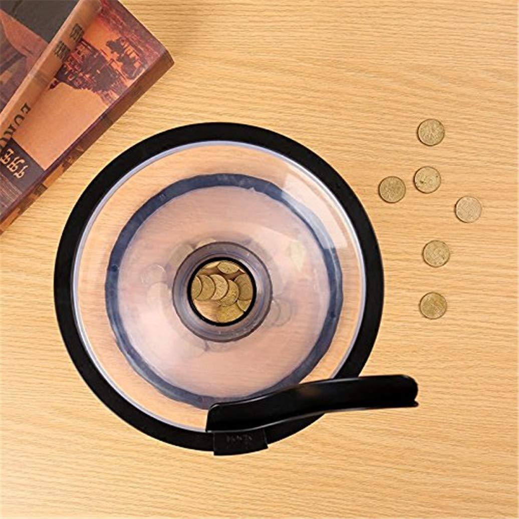 Jeakmo Gravity Rotating Cyclone Piggy Bank Decompression Vortex Funnel Transparent Rotating Coin Piggy Bank Encircling Box