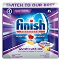 Finish Quantum Max Powerball Ultra Degreaser, Lemon 45 Tabs, Dishwasher Detergent Tablets by Reckitt Benckiser