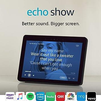 Echo Show (2nd Gen) \u2013 Premium sound and a vibrant 10.1\u201d HD screen