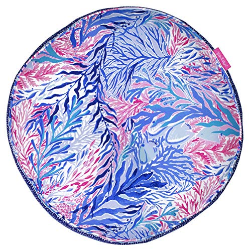 Lilly Pulitzer Indoor Outdoor Round Decorative Pillow, Kaleidoscope Coral
