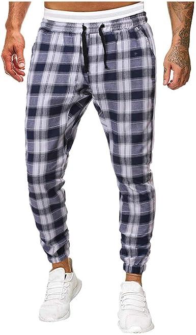 Vectry Pantalones Hombre Pantalones Deportivos Casual Largos ...