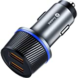 andobil Boost Fast Car Charger, QC 3.0 Dual USB Car Charger Adapter Compatible iPhone Xs/Xs Max/X/8/8 Plus/7/7 Plus, Sumsung Galaxy S10/S10 Plus/S10e/S9+/S9/S8/S8+/Note 9, Google, LG, OnePlus and More