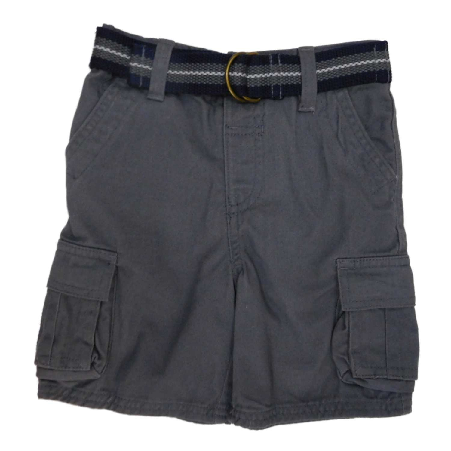 2441932c6 Toughskins Infant   Toddler Boys Gray Cargo Shorts   Belt ...