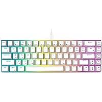 RK ROYAL KLUDGE RK68 (RK855) Wired 65% Mechanical Keyboard, RGB Backlit Ultra-Compact 60% Layout 68 Keys Gaming Keyboard…