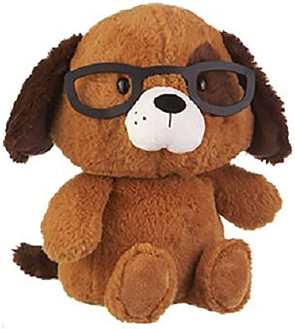 Puppy with Glasses Ganz Baby Plush Stuffed Animal 11 inches Spectimals