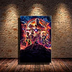 Zjhart HD Printed Oil Paintings Home Wall Decor Art on Canvas Avengers-infinity-war 4size#083 (Unframed,24x36inch)