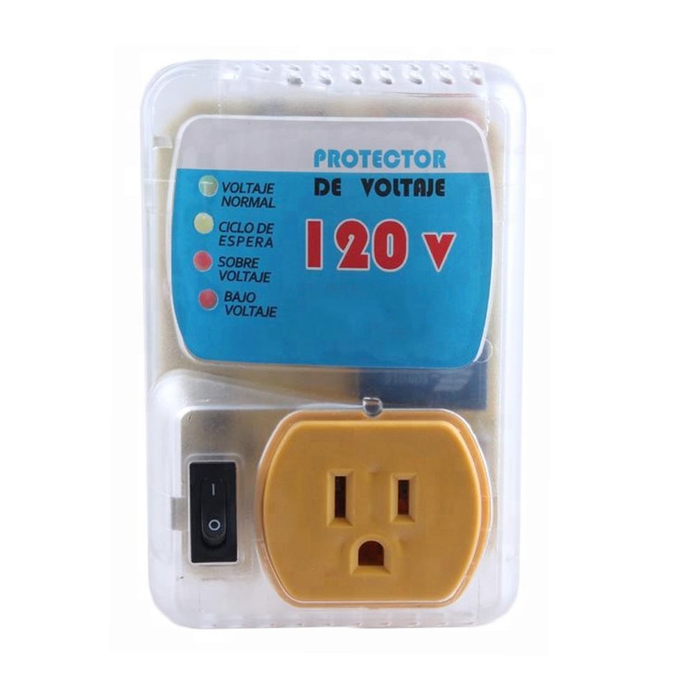 Voltage Protector Brownout Surge 2200 Watts for Air Conditioner, Refrigerator, Freezer, Electric Clothes Dryer 120V