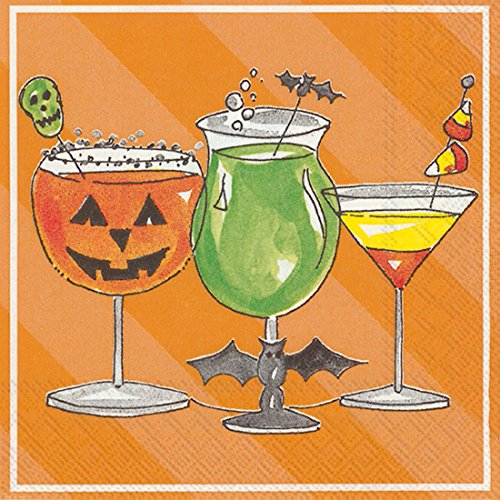 Ideal Home Range 20-Count Rosanne Beck Spooky Paper Cocktail Napkins