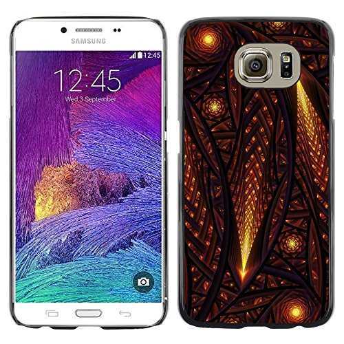 iKiki Tech / Hard Case Cover - Stars Comet Universe Middle Ages Church - Samsung Galaxy S6 SM-G920