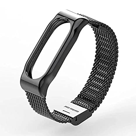 XIHAMA Pulsera de Acero Inoxidable Xiaomi Mi Band 2, Pulsera de Repuesto de Metal para Xiaomi Smart Watch