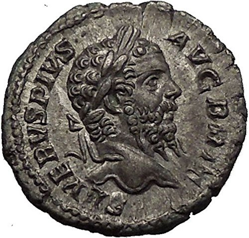 Septimius Severus Coins - 210 IT SEPTIMIUS SEVERUS 210AD Victory over Britain Anci coin Good