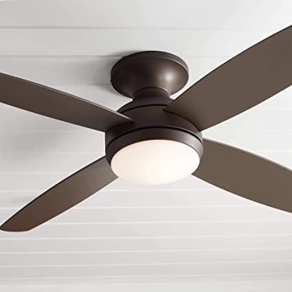 Awe Inspiring 52 Casa Elite Modern Hugger Low Profile Ceiling Fan With Light Led Dimmable Remote Flush Mount Oil Rubbed Bronze For Living Room Bedroom Casa Vieja Download Free Architecture Designs Pushbritishbridgeorg