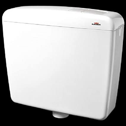 kariba cassetta esterna wc  CASSETTA WC in ABS SUPER KARIBA DUO B/CA: : Casa e cucina
