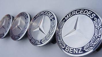 Juego de 4 azul oscuro – Mercedes-Benz Llantas de aleación Centro Tapacubos (tamaño