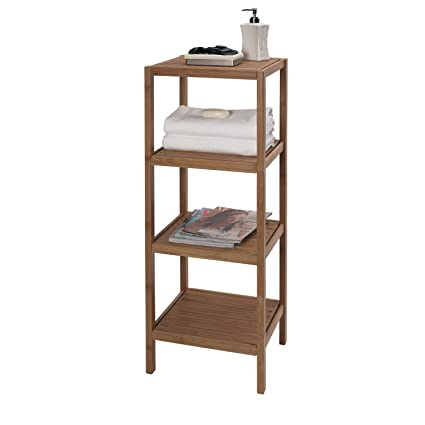 Amazon.com: Creative Bath 4-Shelf Bamboo Tower: Home & Kitchen