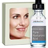 Hyaluronic Acid Serum for Face - 100% Pure Medical Quality Clinical Strength Formula!. Holds 1,000 Times Its Own Weight in Water - Plumps and Hydrates - All Natural