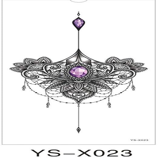 tzxdbh Bajo 5pcs El Tatuaje púrpura Flores de Diamantes Collar de ...