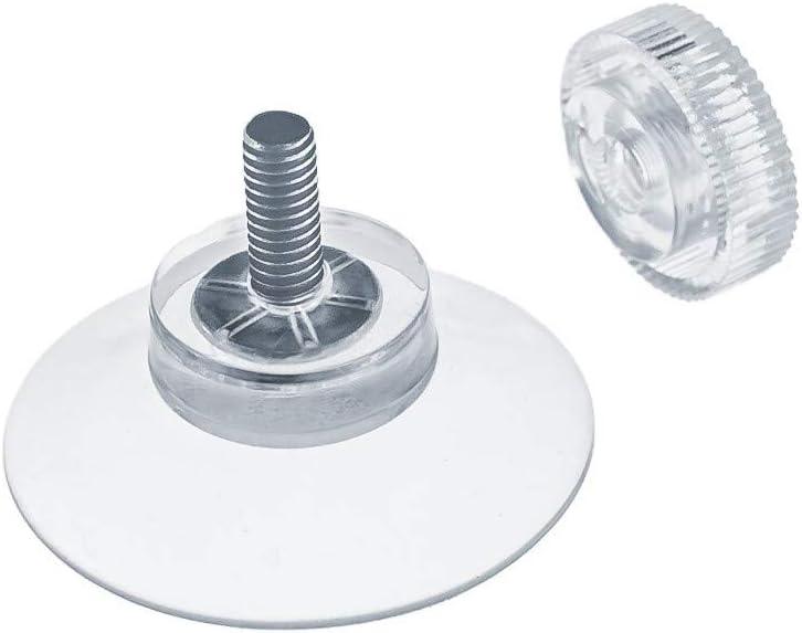 DIYexpert® 4 x ventosas Ø 30 mm con rosca M4 x 10 mm incluye tuercas moleteadas transparente – Fabricado en Alemania