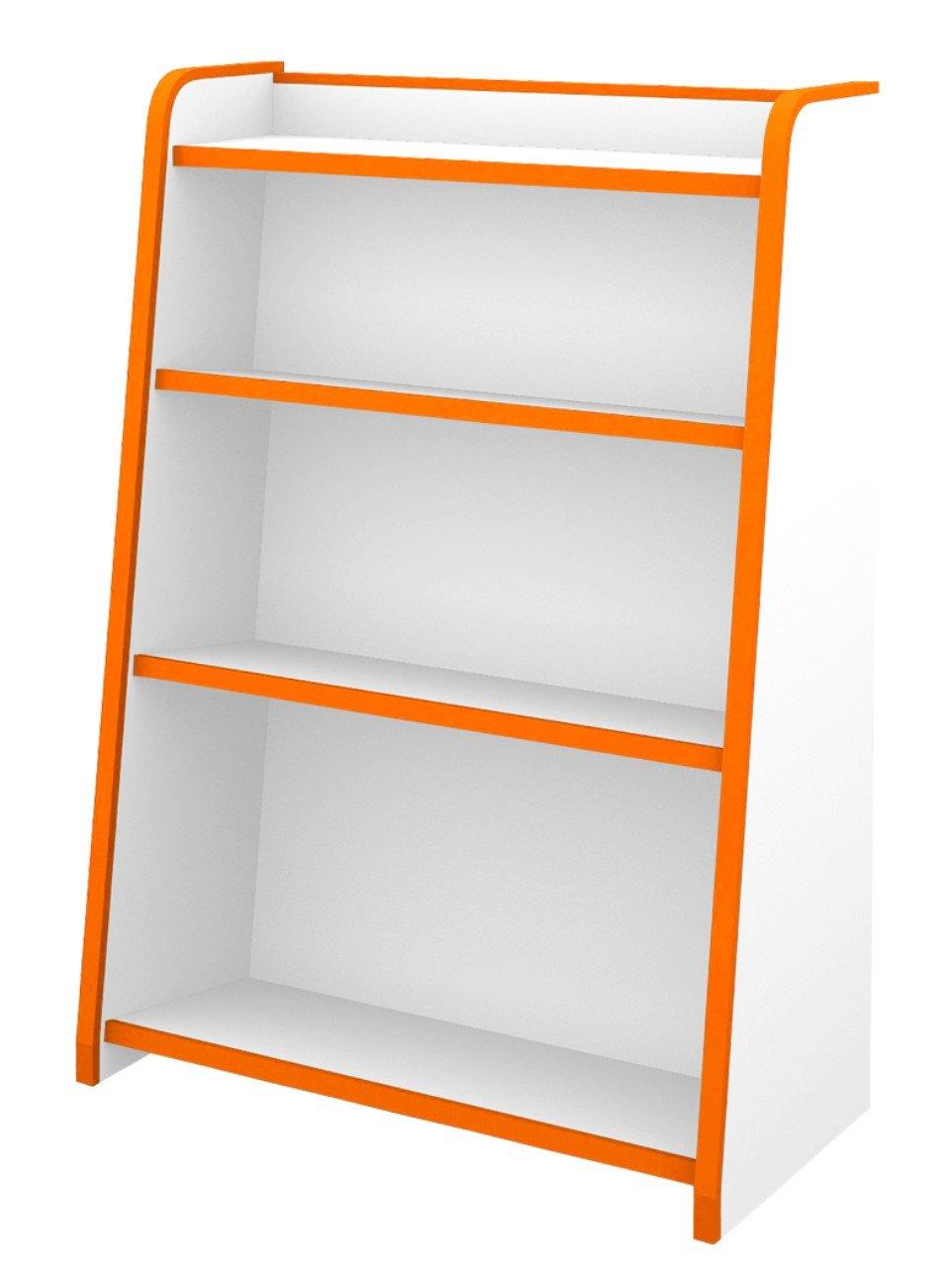 本棚 シェルフ ラック ブックシェルフ ほんだな 幅63cm カラー:オレンジ B01M25FDKE