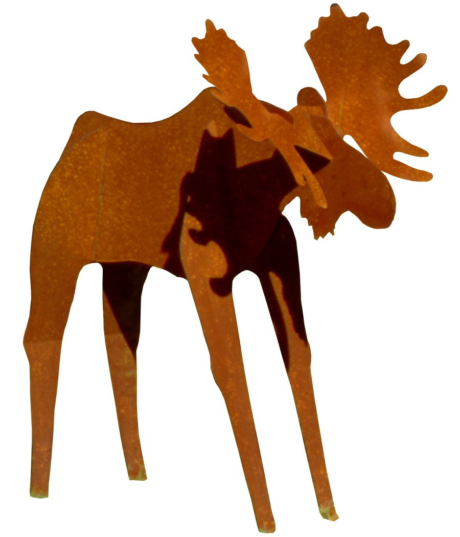 Fantasy Fauna LSMS-84 'Rusty' Moose Pre-Rusted Steel Sculpture, Life Size