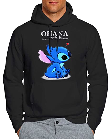 Ohana Lilo and Stitch Hoodie Unisex Adults WF