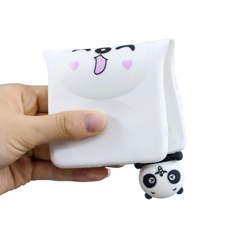 QY Mart Funda Compatible with Huawei P8 Lite 2017 Blando 3D Dibujos Animados Dise/ño Suave TPU Gel Goma Bumper Candy Color Delgado Silicona Cover con Auriculares Organizador Tres Osos