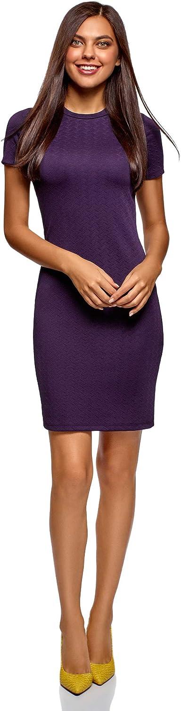 oodji Ultra Damen Enges Kleid aus Baumwolle
